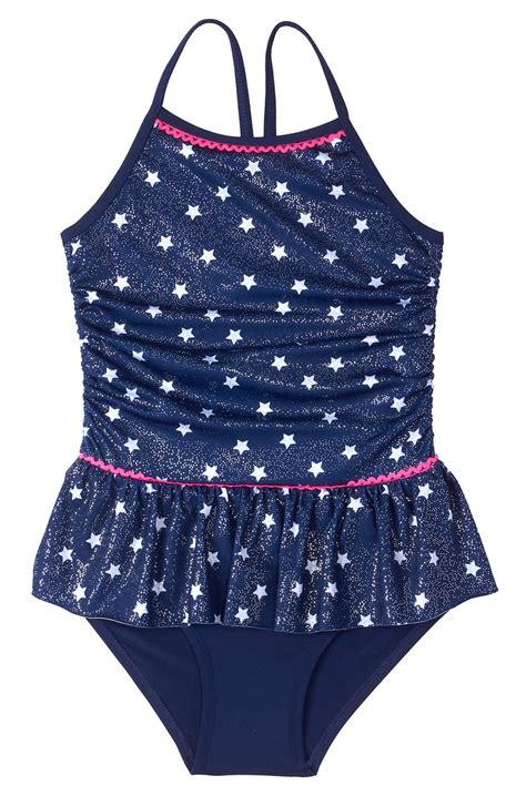 baby toddler girl foil star ruffle tutu tutu swimsuit