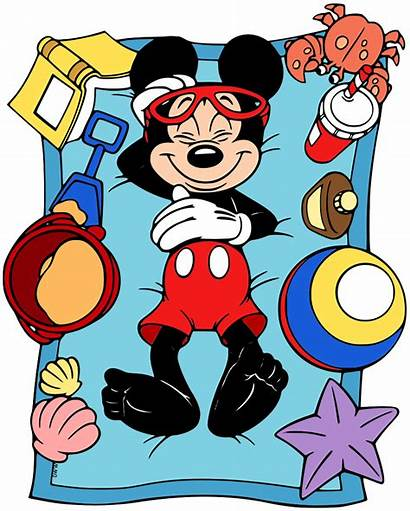 Mickey Mouse Disney Clipart Clip Minnie Relaxing