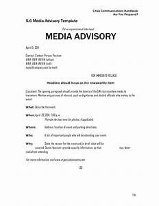 final crisis communications handbook With media alert template