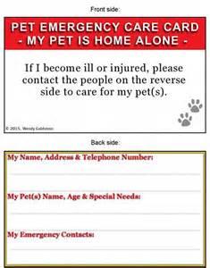 Pet Emergency Wallet Card