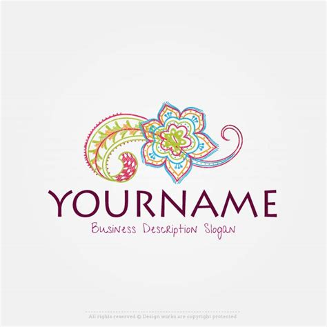 create  logo template flower logo design