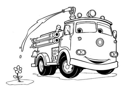 gambar mewarnai gambar mobil pemadam kebakaran di rebanas