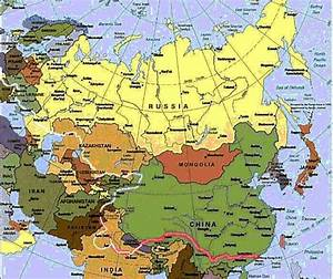 Maps of Europe Countries: Map of Eurasia Countries Regions