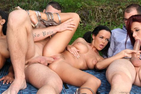 Sexy Isabella Chrystin Has Group Sex At Picnic 1 Of 2