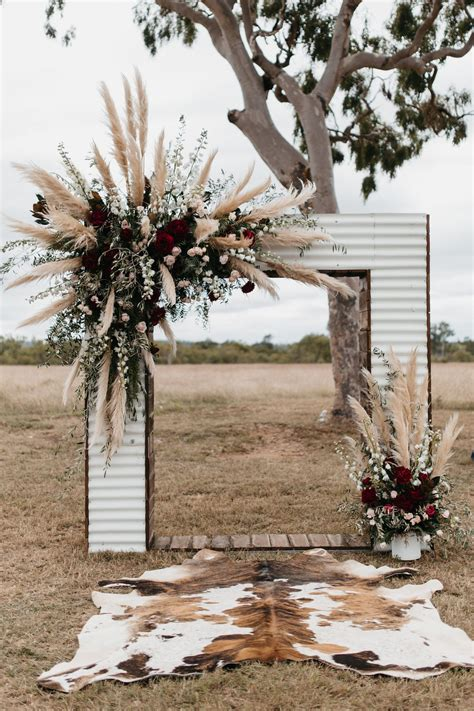 Josh And Vickis Glam Cattle Station Wedding Fall Wedding