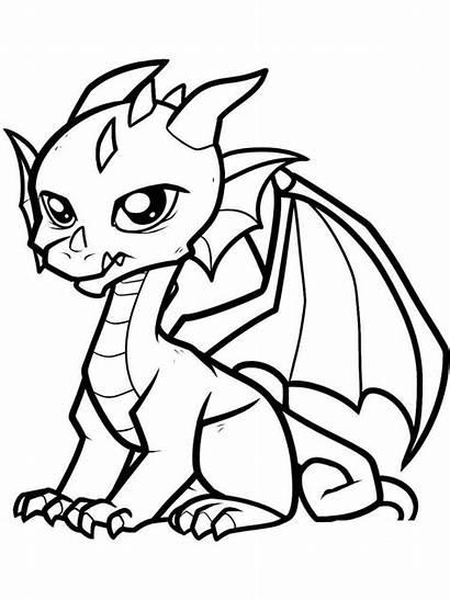 Dragon Coloring Pages Cartoon Printable