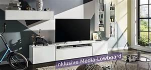 Hülsta Online Shop : now easy wohnwand mit 2 h ngeregalen 1 h ngeelement ~ Frokenaadalensverden.com Haus und Dekorationen