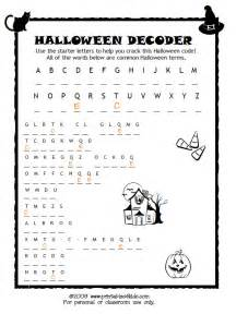 Scary Halloween Brain Teasers free hygiene puzzles coloring pages