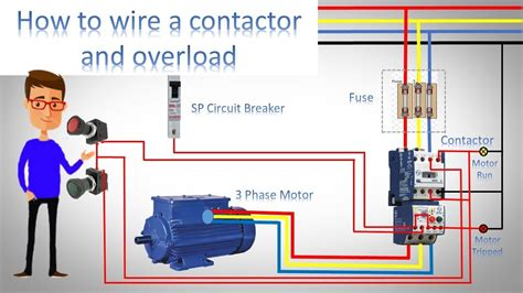 wire  contactor  overload direct  st