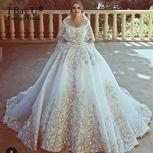 top customized big train arab wedding dresses 2017 luxury With wedding dress arabic designer