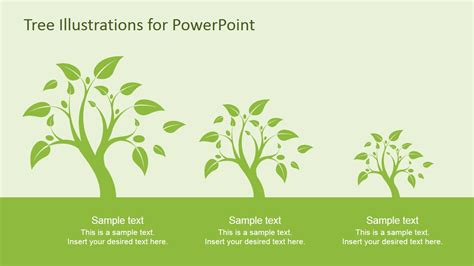 tree illustration diagrams  powerpoint slidemodel