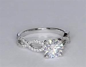 156 carat diamond infinity twist micropave diamond With infinity ring wedding band