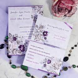 purple wedding invitations purple floral printable wedding invitation cards cheap ewi063 as low as 0 94