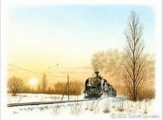 【水彩色鉛筆画】札幌市電、藻岩山、北海道のSL等6点Up 札幌の水彩色鉛筆画家 イラストレーター鈴木周作「宮の森