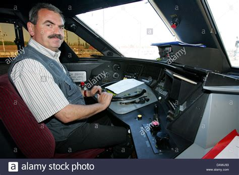 The Engine Driver Of The Tgv Train By The French Railway