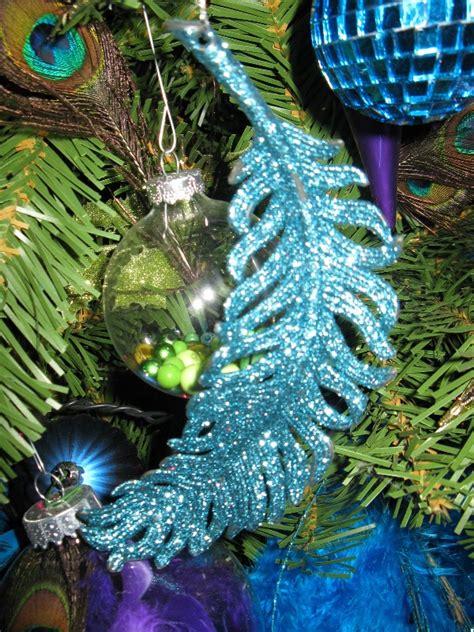 attaractive peacock christmas tree decorations ideas