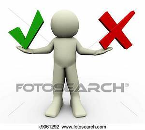 Clipart - 3d, homme, choix k9061292 - Recherchez des ...