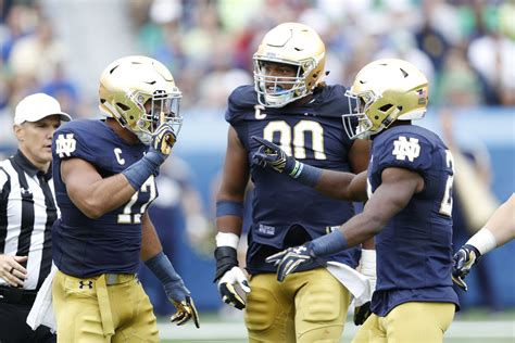 notre dame football  projected  deep depth chart