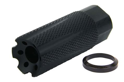 "9mm 1/2 X 36"" Thread Knurled Style Muzzle Brake, Nitride"