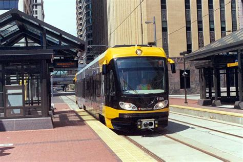 minneapolis light rail minneapolis mn new light rail car at the government