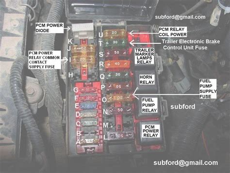 distribution box diagram page  ford truck enthusiasts