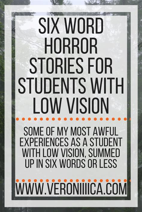 word horror stories  students   vision