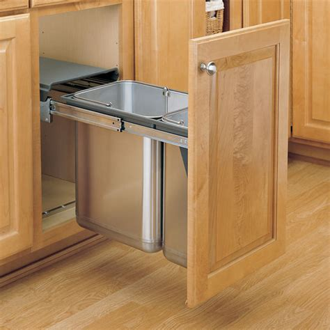pull out garbage cabinet rev a shelf stainless steel sink base pull out waste