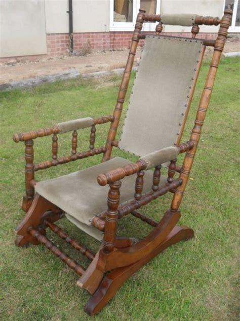 turned beechwood american rocking chair 147698