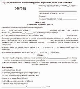 Образец заявления на судебный приказ о взыскании долга по расписке