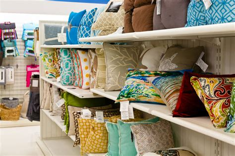Home Goods Accent Pillows Editorial Photography Image Of