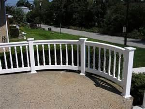 curved railing bella railings