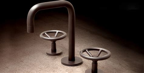 industrial chic brass faucets  watermark designs