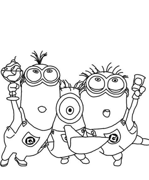 despicable me coloring pages minions for