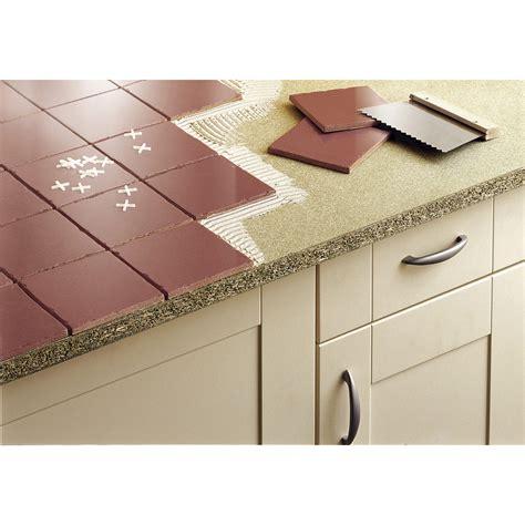 carrelage pour plan de travail cuisine plan de travail aggloméré à carreler mat l 185 x p 63 cm ep 28 mm leroy merlin