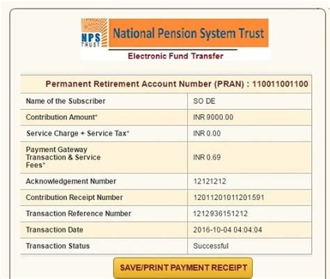 how to do online contribution to nps using enps be money