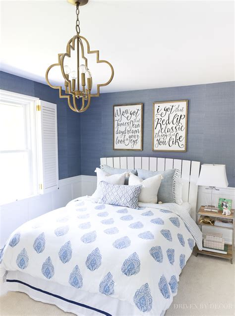blue and white bedroom home tour driven by decor 14613 | blue white bedroom