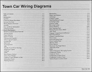 2002 Lincoln Town Car Original Wiring Diagrams
