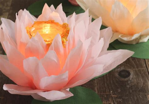 diy paper flower luminaries diy projects  layer cake
