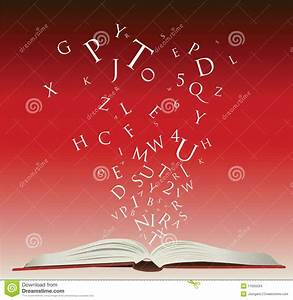 open book with letters stock images image 11955594 With letters to open when book
