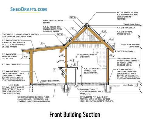 Porch Blueprints by 8 215 10 Potting Shed Porch Plans Blueprints For Constructing
