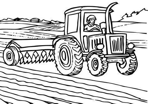 des coloriages gratuits tracteurs  imprimer   colorier