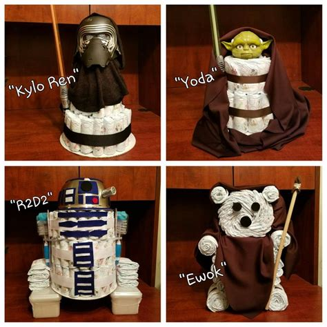 star wars theme diaper cakes star wars baby shower