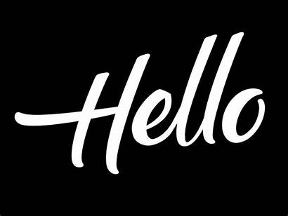 Hello Animated Letters Hand Motion Drawn Dribbble