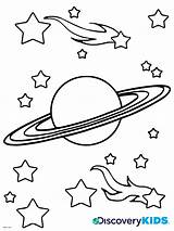 Coloring Saturn Pages Planet Comet Space Drawing Discovery Nasa Comets Printable Asteroids Spaceship Clipart Clip Activities Rocket Meteors sketch template