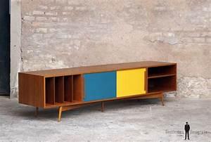 Meuble Tv Vintage Scandinave : meuble tv hifi bas teck scandinave vintage creations sur mesure pinterest meuble bas ~ Teatrodelosmanantiales.com Idées de Décoration