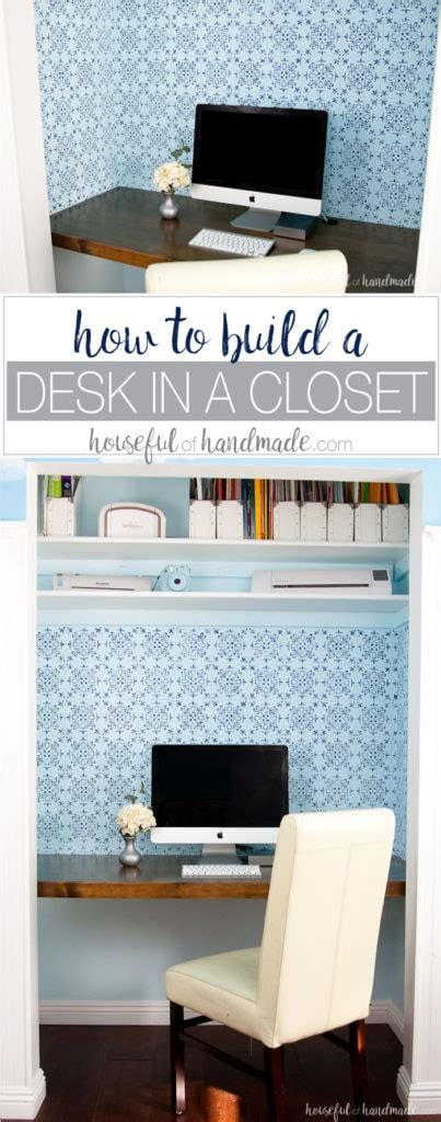 build  desk   closet houseful  handmade