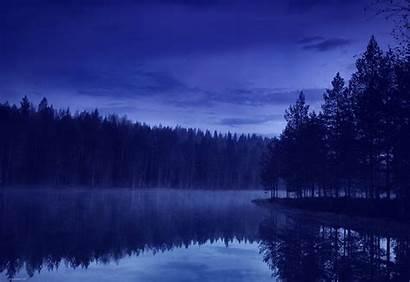Night Forest Lake Wallpapers Water Beach Desktop