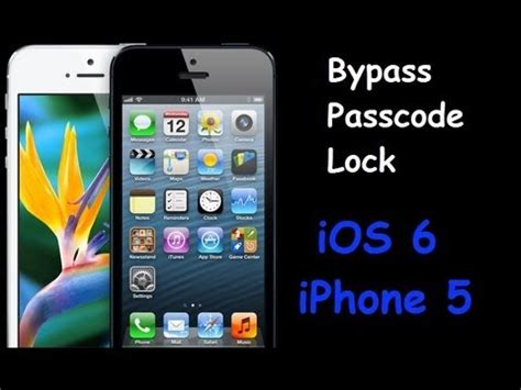 how to bypass iphone 5 passcode lock bypass ios 6 and iphone 5 passcode lock 19870