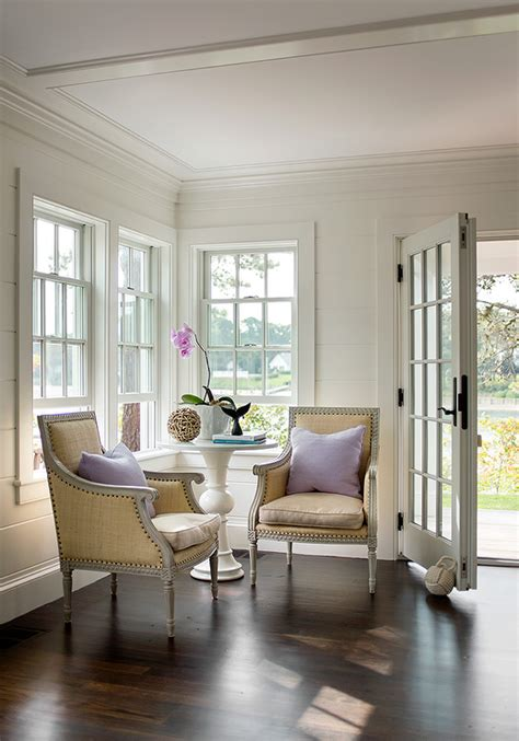 elegant  simple foyer features  styled white