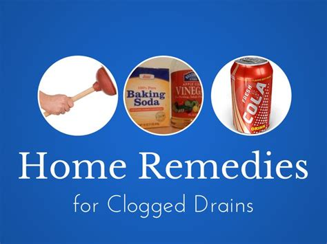 home remedies for clogged drains diy clog removal